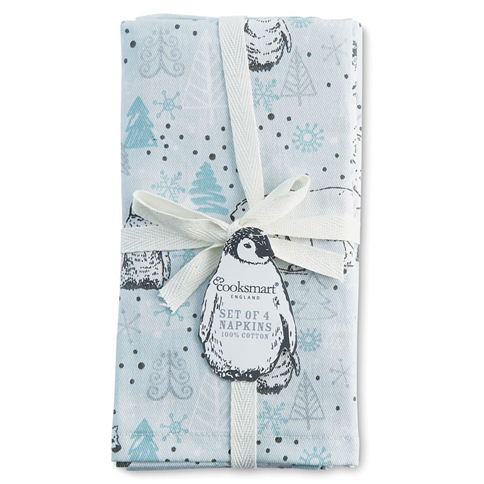 Cooksmart Napkins - Frosty Winter Morning - Set of 4