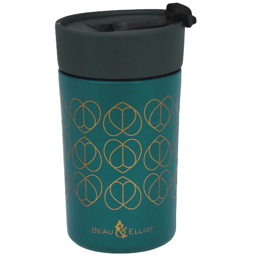 Beau and Elliot Insulated Travel Mug, 300ml, Champagne Edit Teal