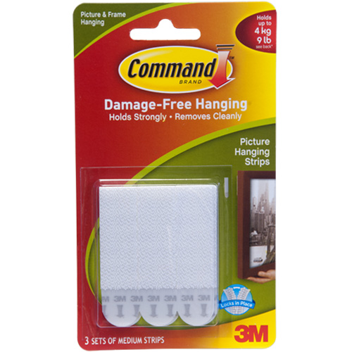 3M Medium Picture Hanging Command Strips (3 Sets)