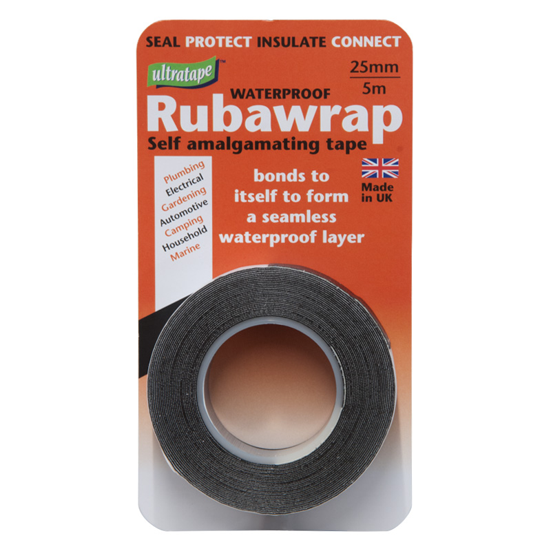 Ultratape Rubawrap Self-amalgamating Tape, Black, 5m