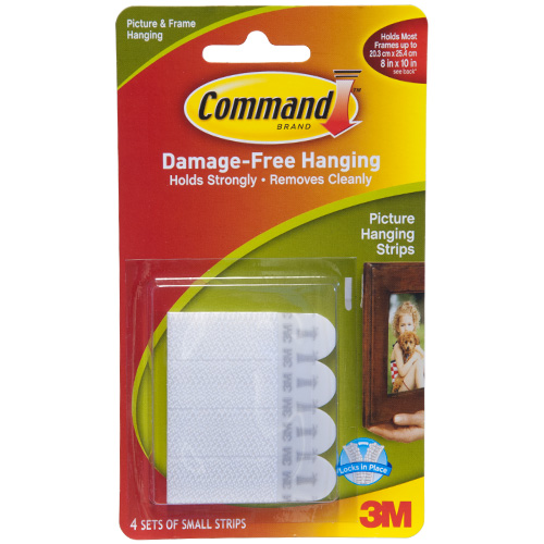 3M Small Picture Hanging Command Strips (4 Sets)