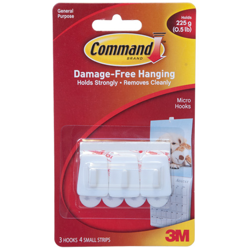 3M General Purpose Micro Hooks With Command Strip - Click Image to Close
