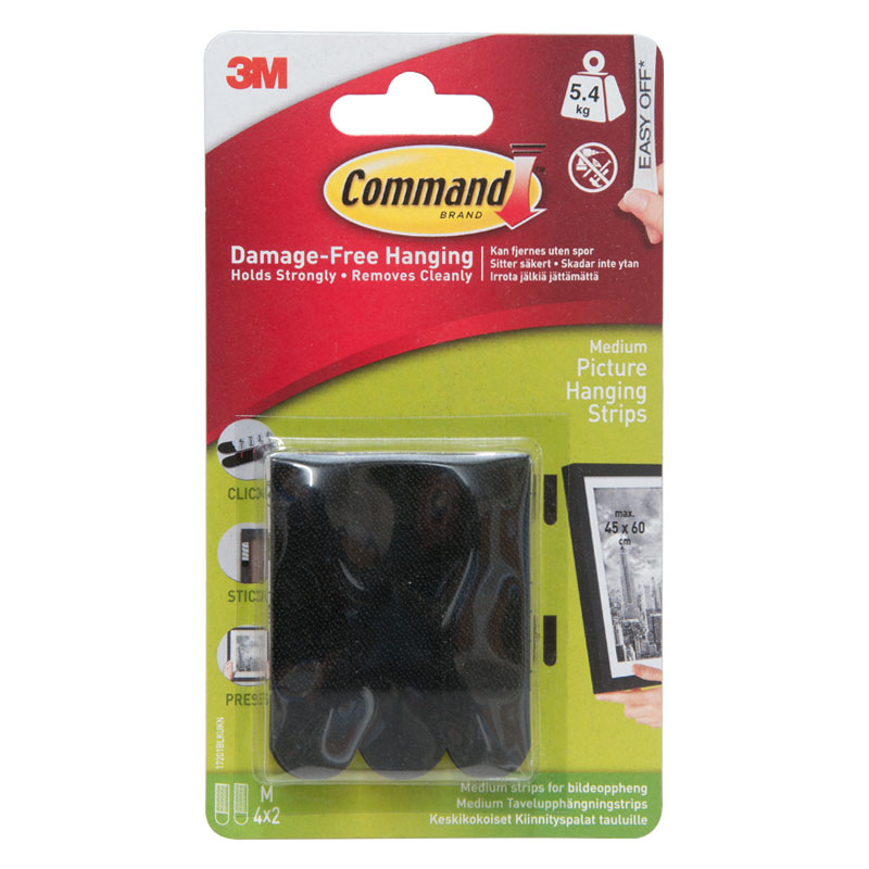 3M Medium Picture Hanging Strips With Command Strips (4 x 2)