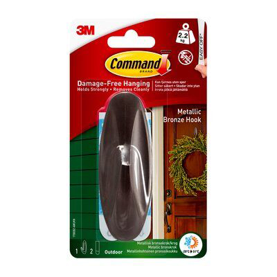 3M General Purpose Outdoor Hook With Command Strips