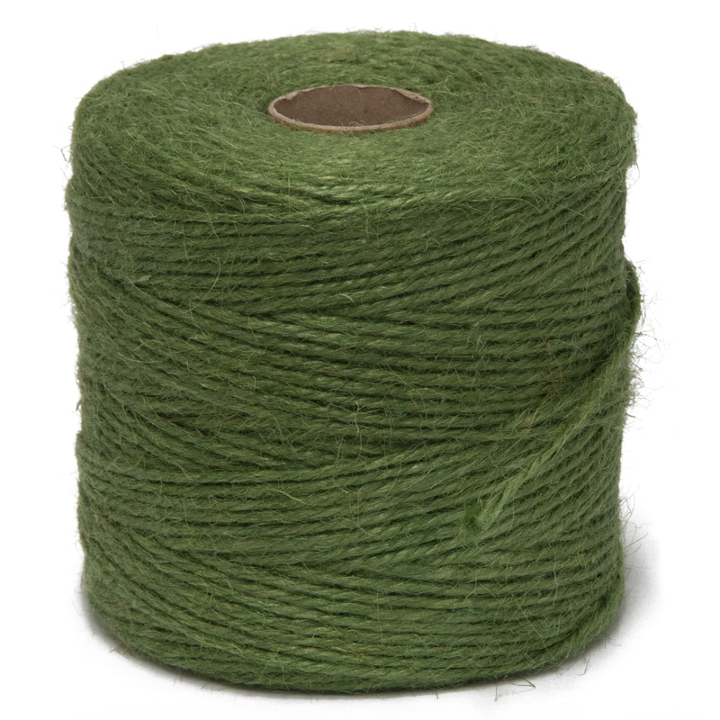 Hurst Natural Jute Garden Twine String - 250m Green