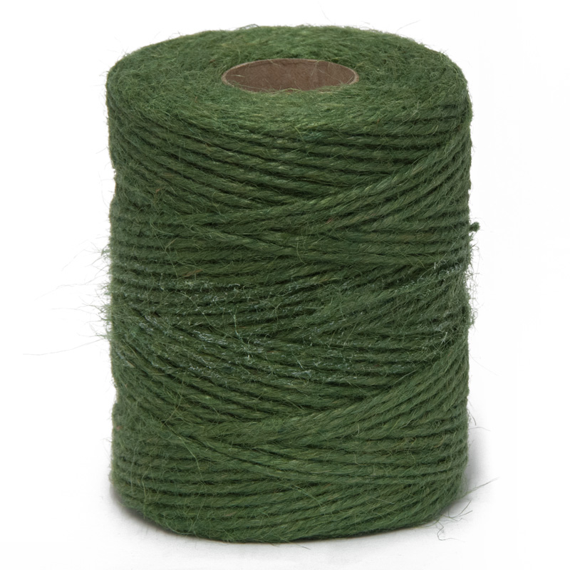 Hurst Natural Jute Garden Twine String - 125m Green