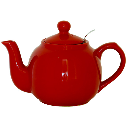 London Pottery 6 Cup Red Farmhouse Tea Pot Inc Filter