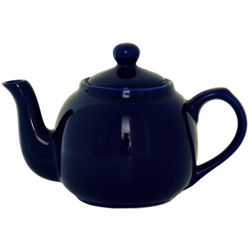 London Pottery 2 Cup Cobalt Blue Globe Tea Pot