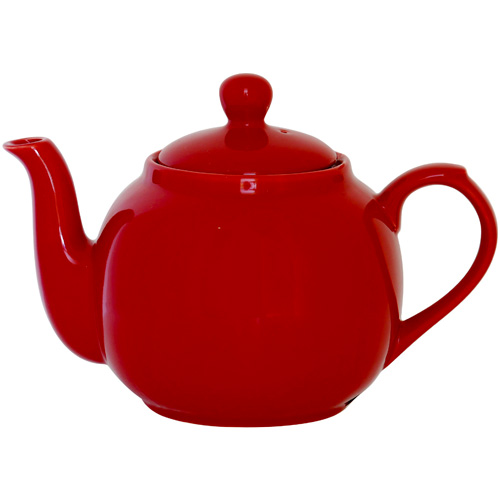 London Pottery 4 Cup Red Globe Tea Pot