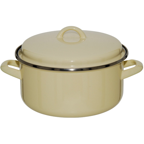 Judge Induction Non Stick Vanilla Round Enamel Casserole, 22cm (JD36)
