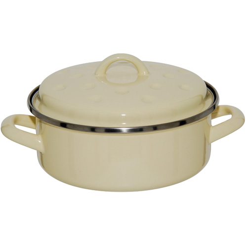 Judge Induction Round Roaster With Lid Vanilla 20cm Non Stick
