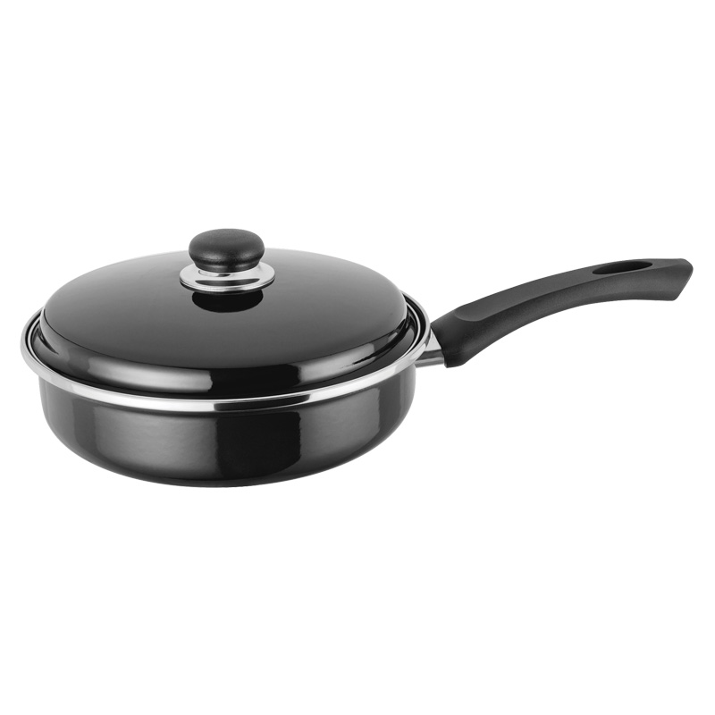 Judge Induction Non Stick Black Enamel Saute Pan, 24cm (JH18)