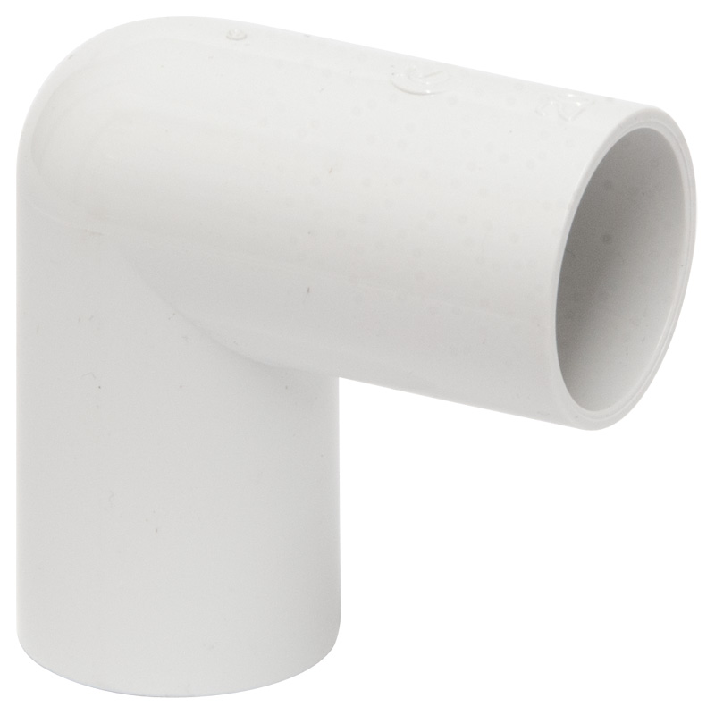 Polypipe Overflow Knuckle Bend, 90deg, 21.5mm, White (NS45)
