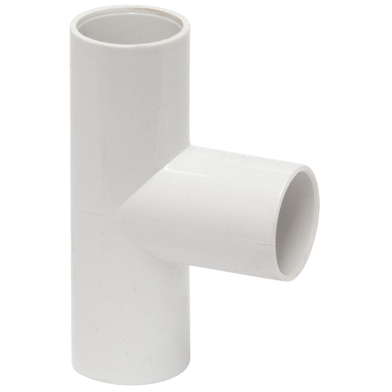Polypipe Overflow Tee, 90deg, 21.5, White (NS46)