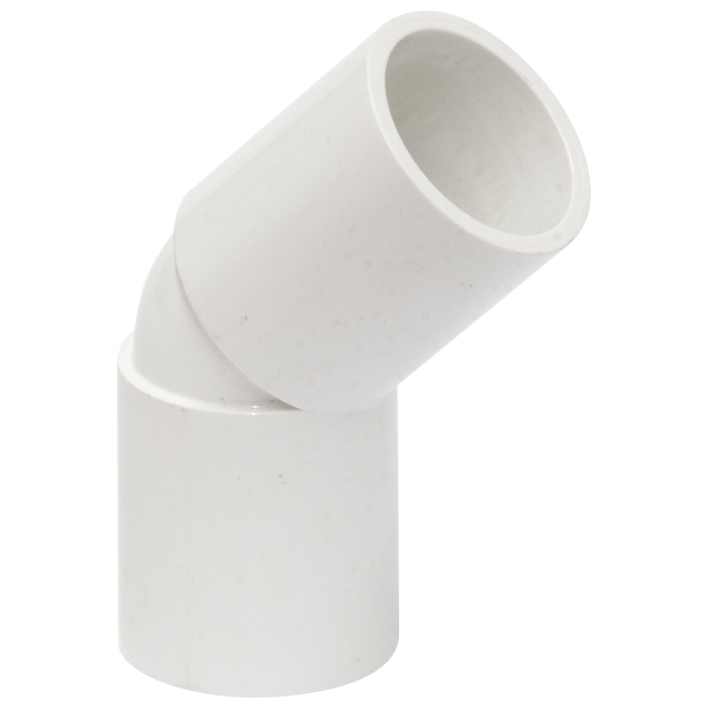 Polypipe Overflow Bend, 45deg, 21.5mm, White (NS55)
