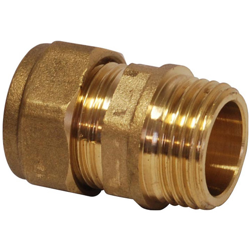 Compression 10mm x 1/4 BSP Male Straight Coupling