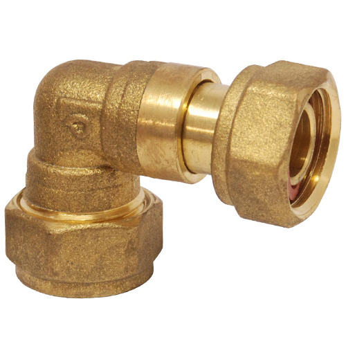 Compression 15mm x 1/2 BSP Female Elbow Tap Connector