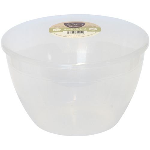 Plastic Steam Pudding Basin With Lid 1 1/2 Pint