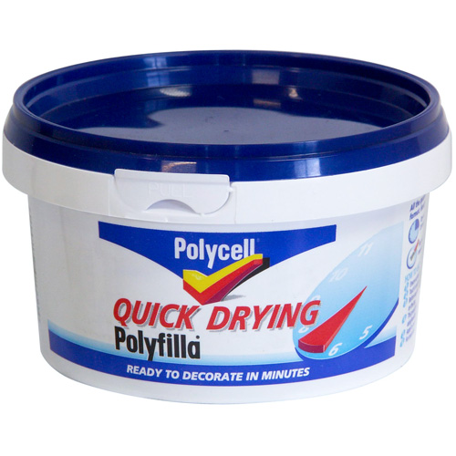 Polycell Quick Drying Polyfilla - 500g Tub - Click Image to Close