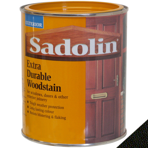 Sadolin Extra Durable Woodstain Ebony - 1 Litre