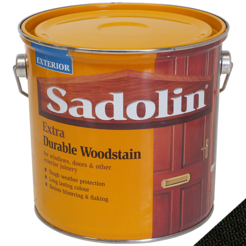Sadolin Extra Durable Woodstain Ebony - 2.5L