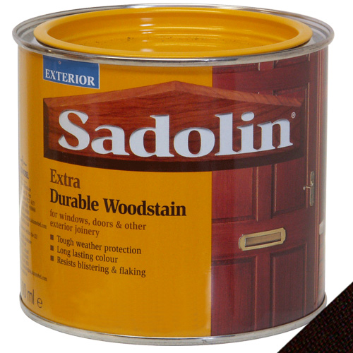 Sadolin Extra Durable Woodstain Dark Palisander - 0.5 Litre - Click Image to Close