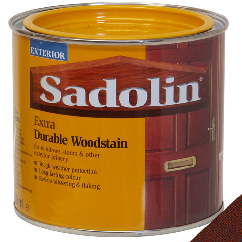 Sadolin Extra Durable Woodstain Mahogany - 0.5 Litre
