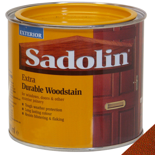 Sadolin Extra Durable Woodstain Redwood - 0.5 Litre