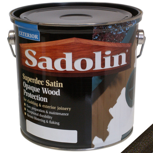 Sadolin Superdec Satin Opaque Wood Protection Black - 2.5 Litre