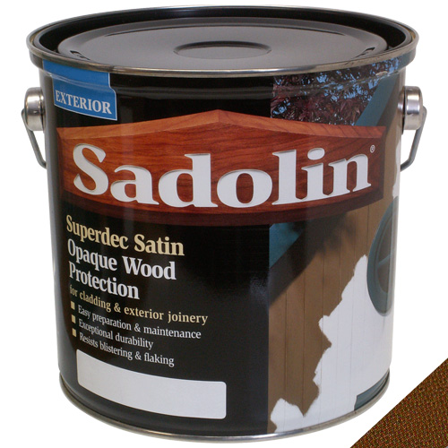 Sadolin Superdec Satin Opaque Wood Protection Walnut - 2.5 Litre