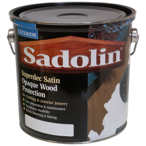 Sadolin Superdec Satin Opaque Wood Protection Super White - 2.5
