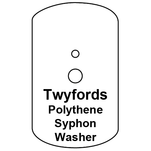 Cistern Syphon Diaphragm Washer, Twyfords Pattern