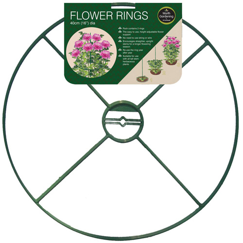 Garland Flower Ring Plant Support - 16 inch - Pack of 2