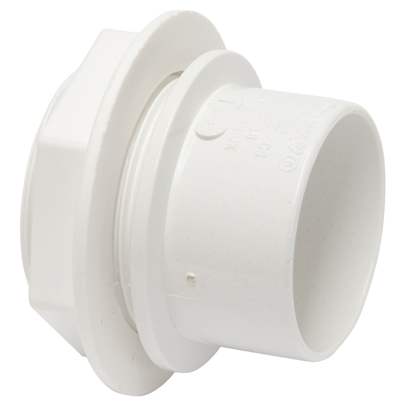 Polypipe Tank Connector, 32mm, White (WS35)