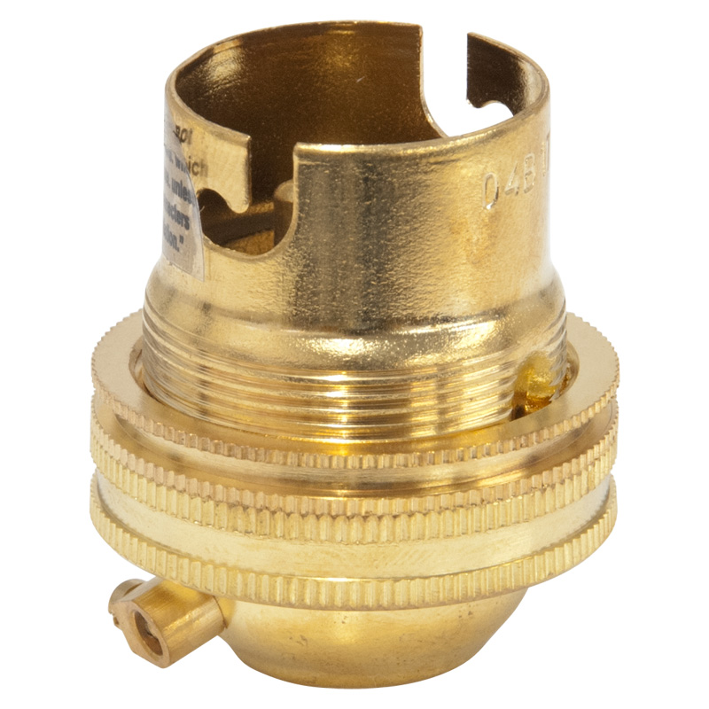 Worldwide Products 1/2in BC Lamp Holder, Brass