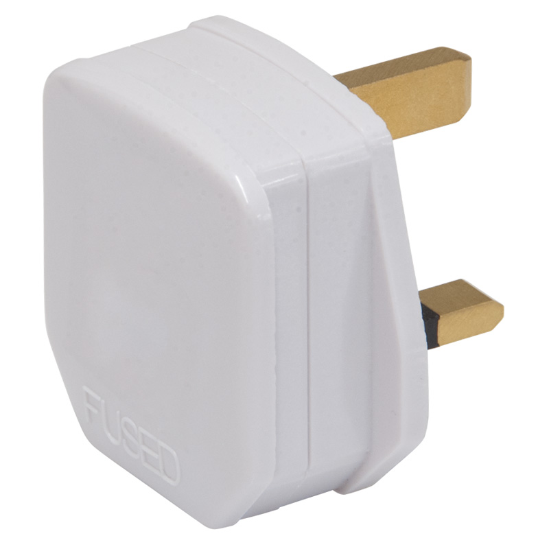 Worldwide Products UK 3-Pin Mains Plug Fitted With 3 Amp Fuse
