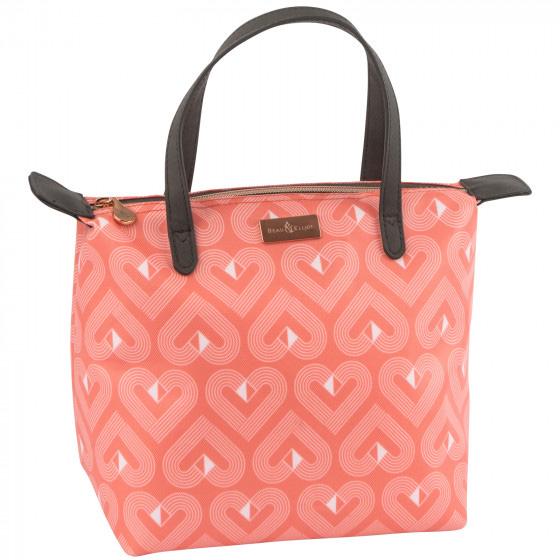 Beau and Elliot Luxury Insulated Lunch Tote Bag - Vibe Coral
