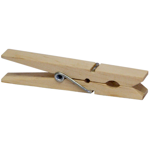 Wooden Clothes Pegs - Pack of 24 - super size