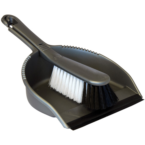 Addis Dustpan And Stiff Brush Set - Metallic Silver