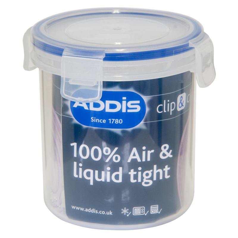 Addis Clip & Close Round Food/Liquid Container 0.55L