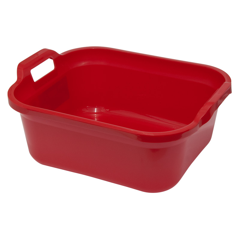Addis Signature Rectangular Washing-Up Bowl, 10Lt, Red
