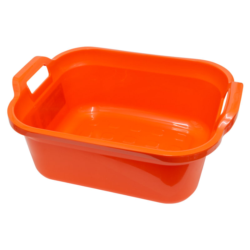 Addis Signature Rectangular Washing-Up Bowl, 10Lt, Flame