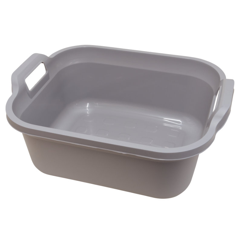 Addis Signature Rectangular Washing-Up Bowl, 10Lt, Light Grey