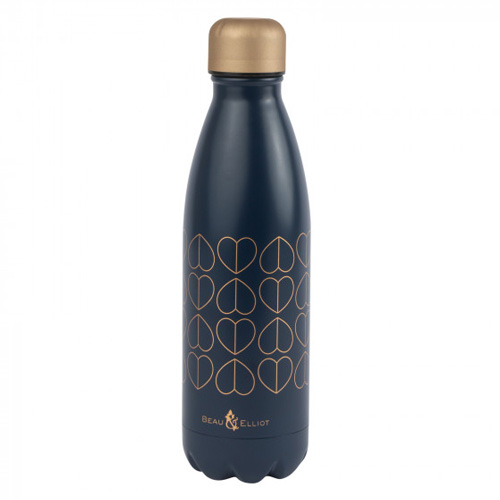 Beau and Elliot Insulated Drinks Bottle - Confetti Navy & Gold 500ml