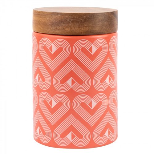 Beau and Elliot Ceramic Storage Canister - Vibe Medium Coral