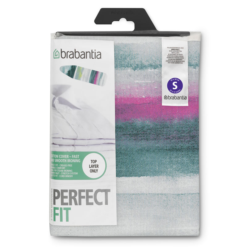 Brabantia Ironing Board Cover, Size S, Top Layer, Morning Breeze
