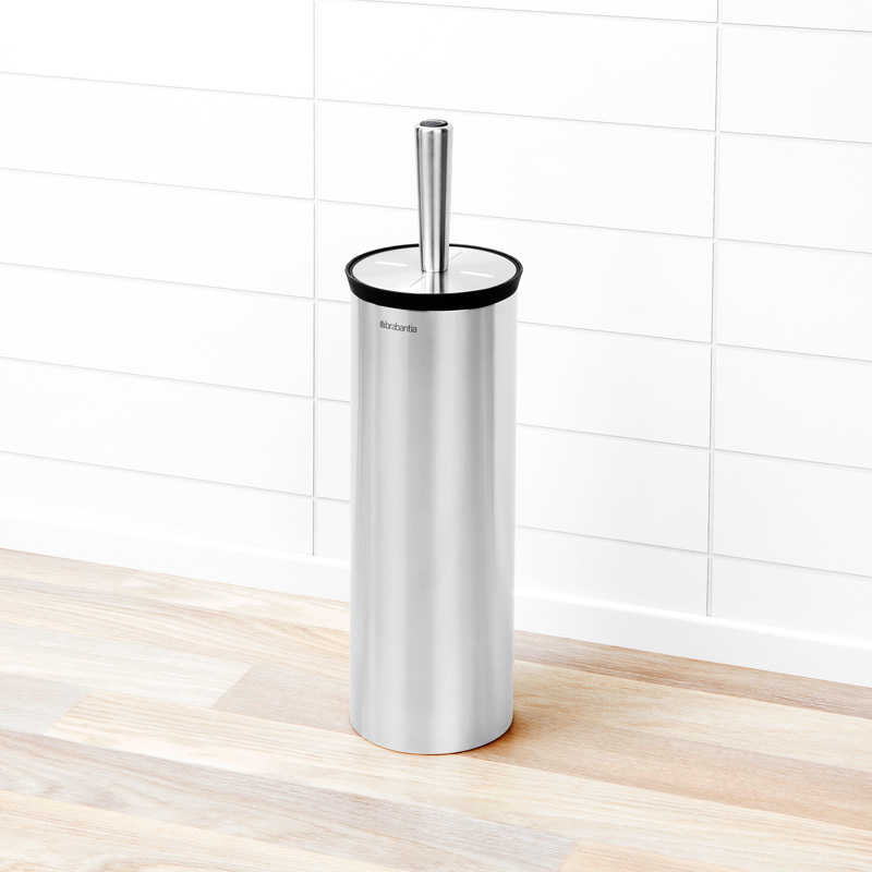 Brabantia Toilet Brush With Holder, Profile, Matt Steel