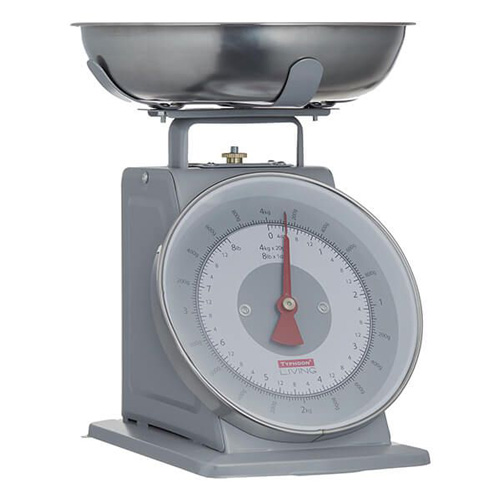 Typhoon Living Kitchen Scales 4kg Grey