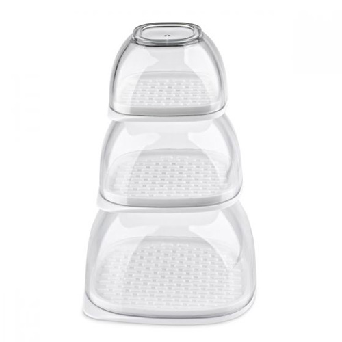 Zyliss Multi Function Food Keepers - Set of 3 stackable