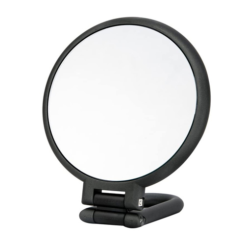 Danielle Hand Mirror with Stand - D1067CH Charcoal True and 10X